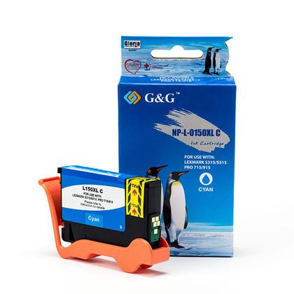 Lexmark 150XL 14N1615 cartouche d'encre compatible cyan haute capacité - G&G™