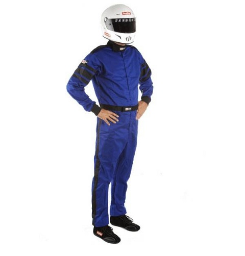 RaceQuip 110 Series Pyrovatex Racing Suit - Blue - Mediun-Tall