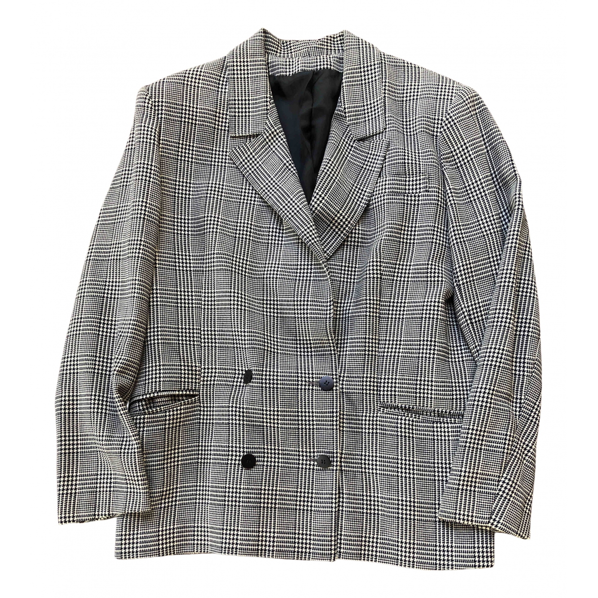 - Veste Oversize pour femme en laine - multicolore