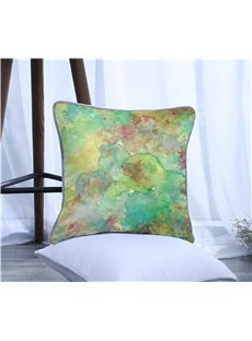 Color Painting Pattern One Piece Decorative Square Polyester Throw Pillowcase