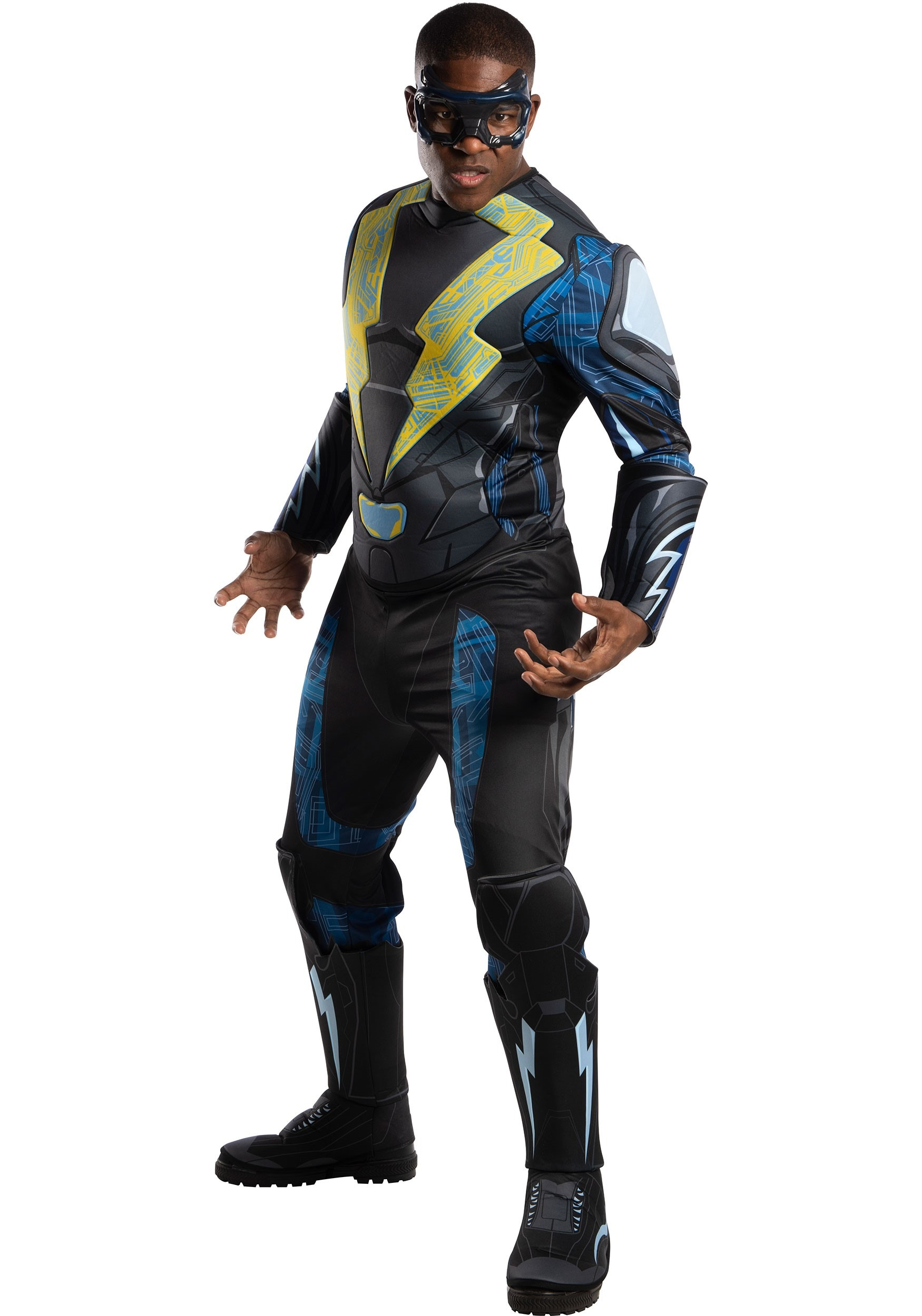 Adult Black Lightning Deluxe Costume