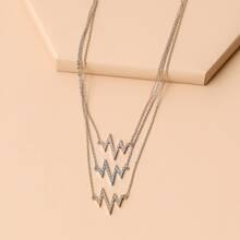 Halskette mit Strass Blitz Dekor