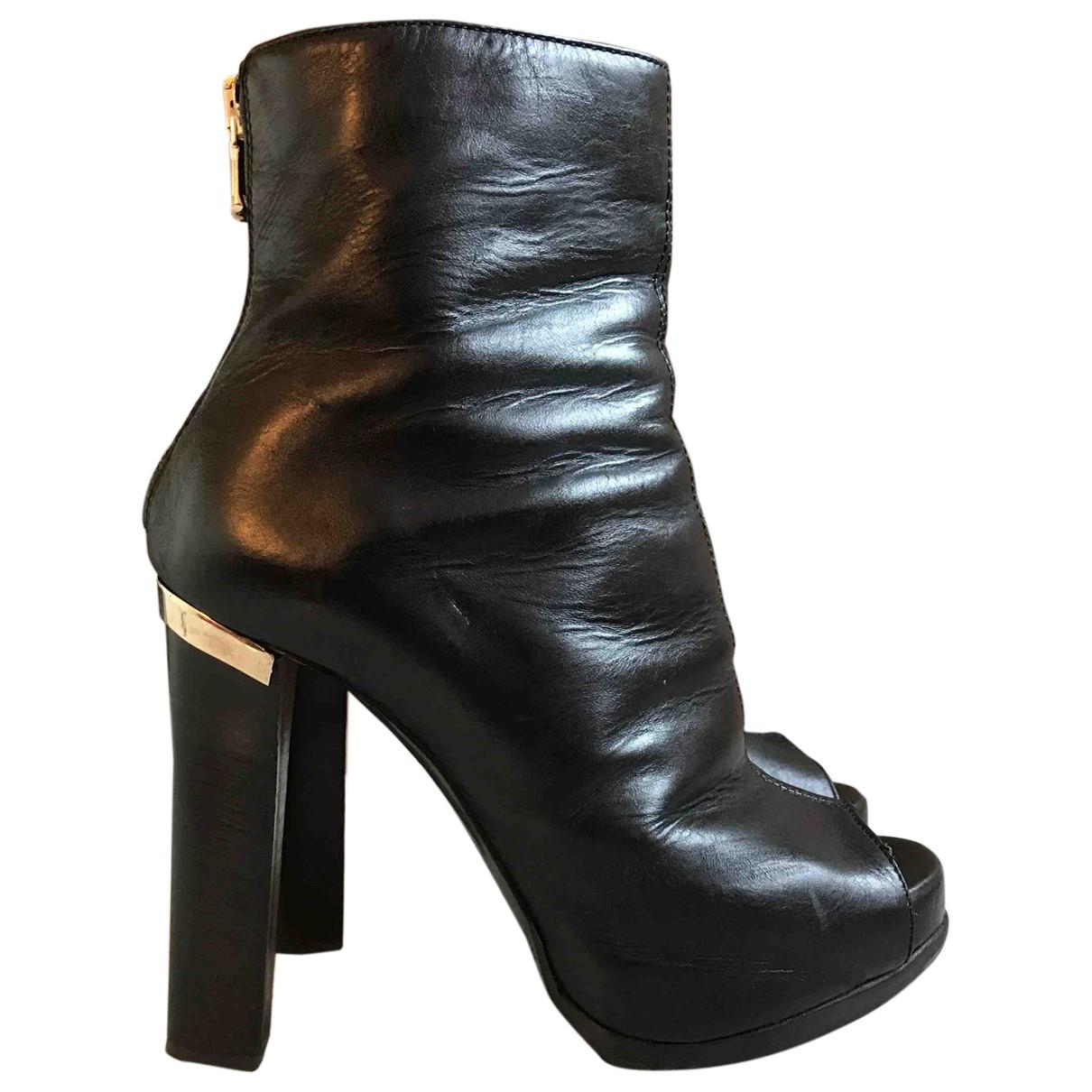 Patrizia Pepe - Boots   pour femme en cuir - noir