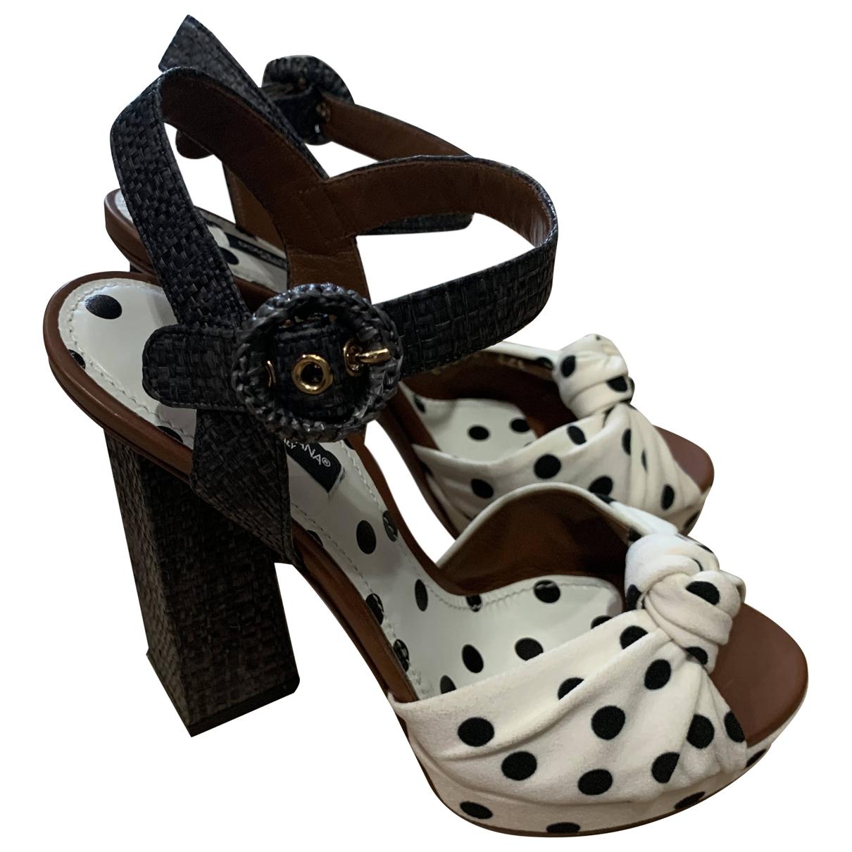 Dolce & Gabbana \N White Cloth Sandals for Women 36.5 EU