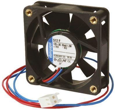 ebm-papst , 24 V dc, DC Axial Fan, 80 x 80 x 25mm, 58m³/h, 1.4W