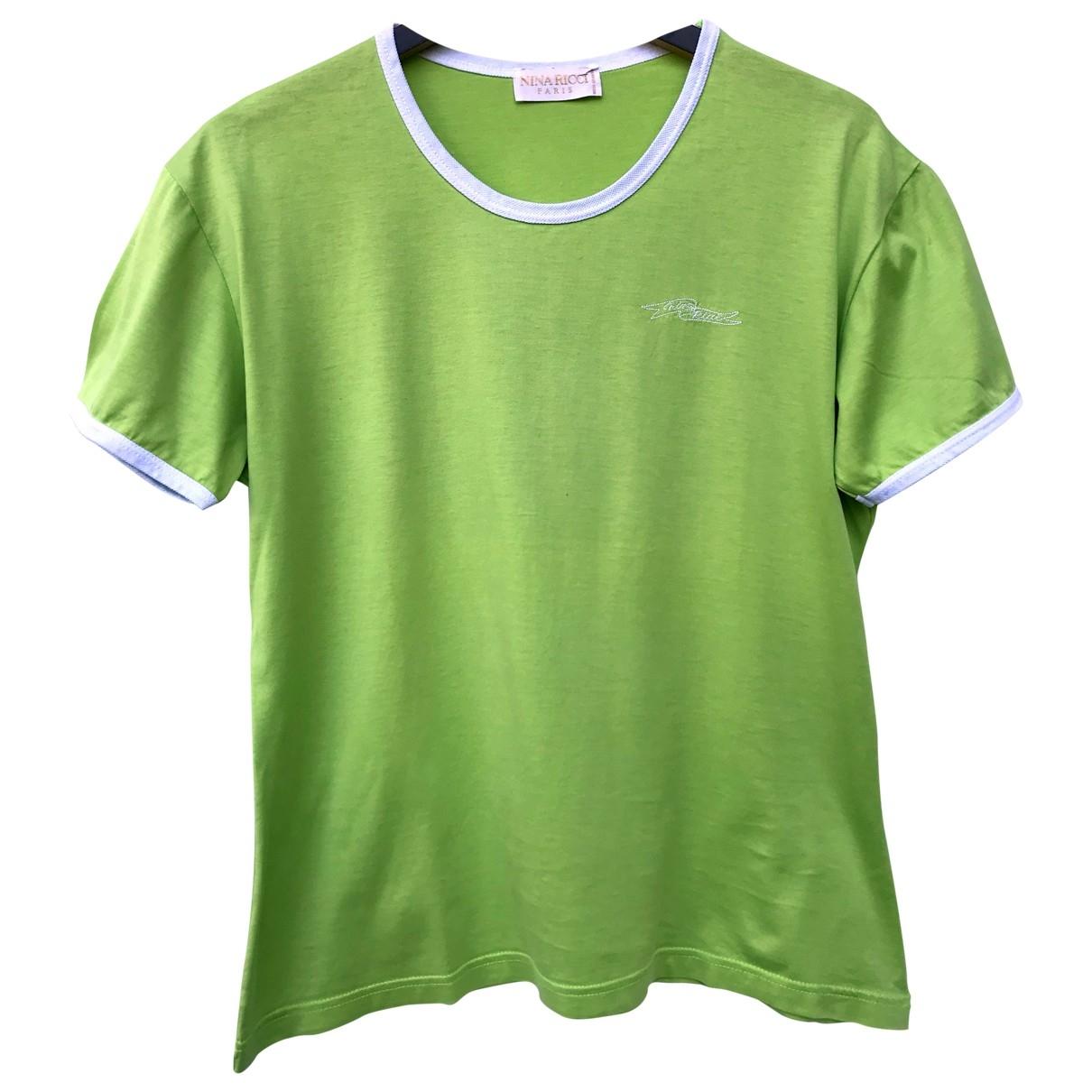 Nina Ricci - Top   pour femme en coton - vert