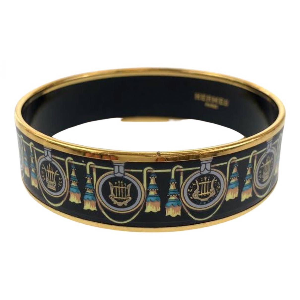 Hermes \N Armband in  Schwarz Metall