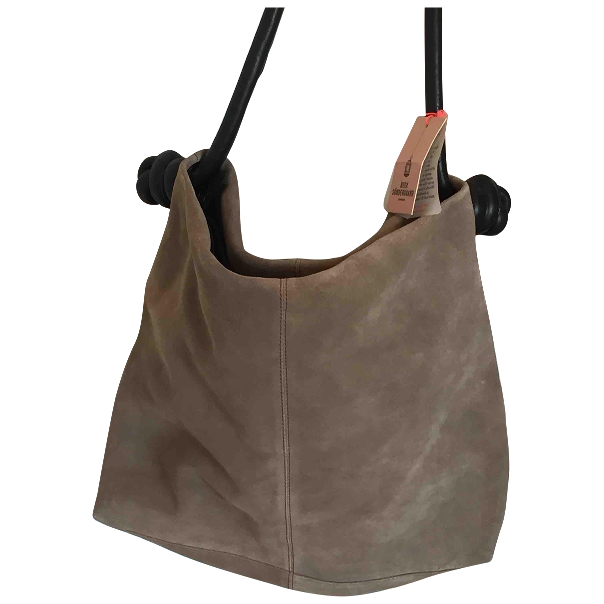 Beck Sonder Gaard \N Beige Suede handbag for Women \N