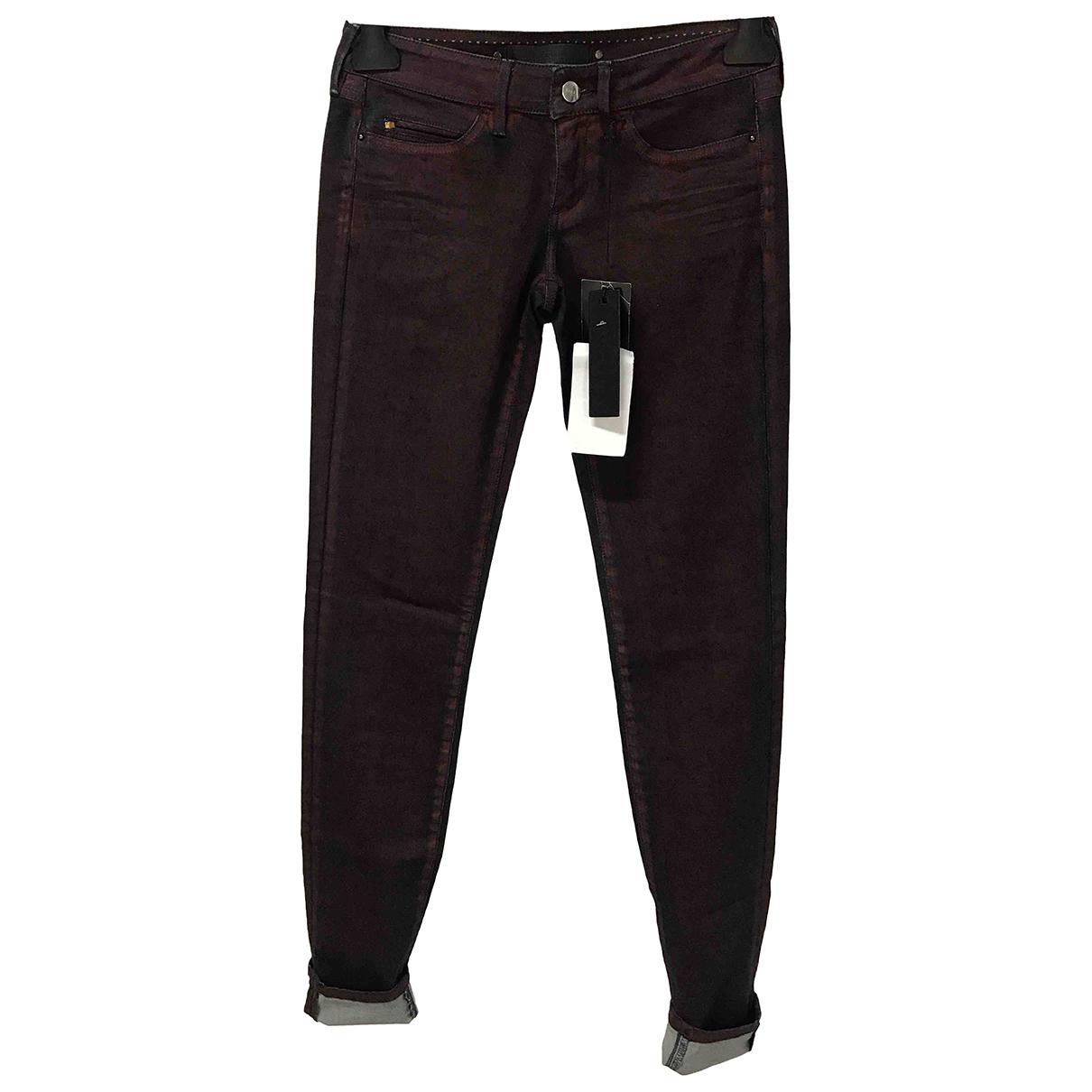 Barbara Bui N Burgundy Cotton - elasthane Jeans for Women 25 US
