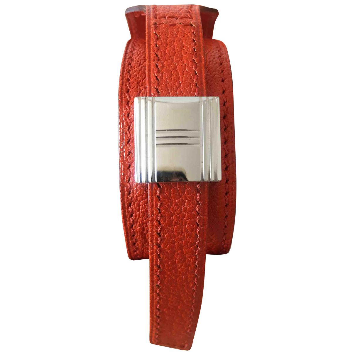 Hermes Artemis Armband in  Orange Leder