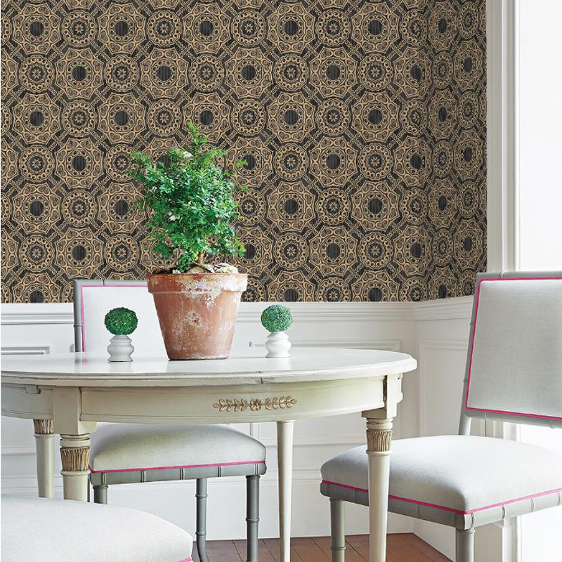 European Style Silk Cloth Material Self-Adhesive Mildew Resistant Wall Murals
