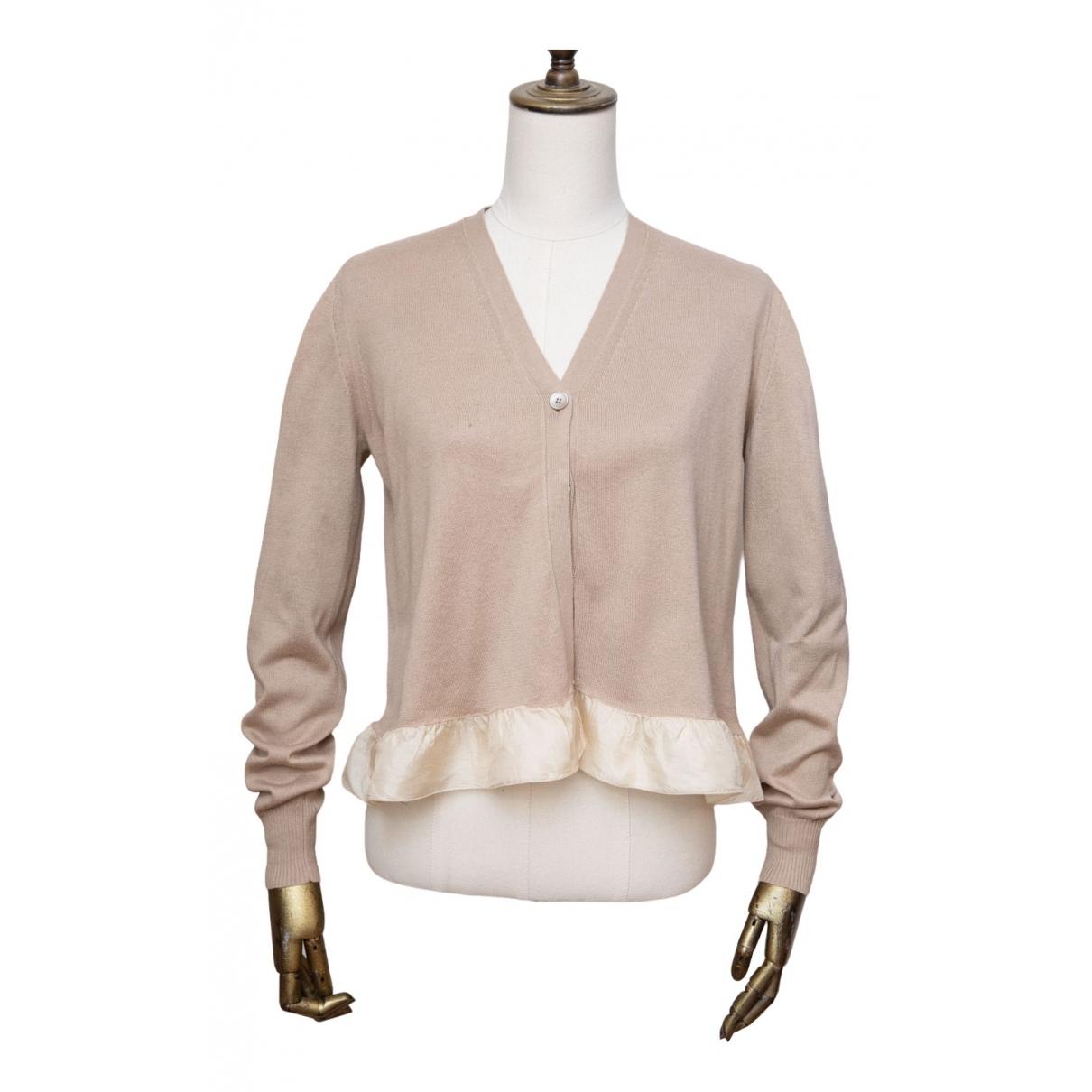 Miu Miu \N Pullover in  Beige Baumwolle