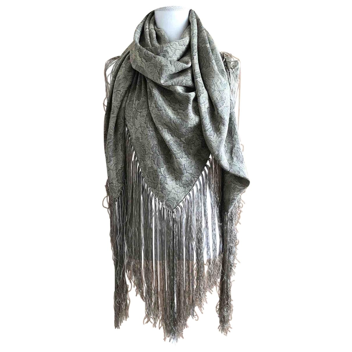 - Foulard Hippie Chic pour femme en soie - gris