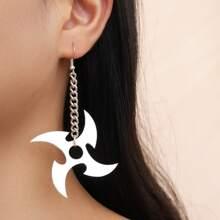 Ohrringe mit Shuriken Dekor