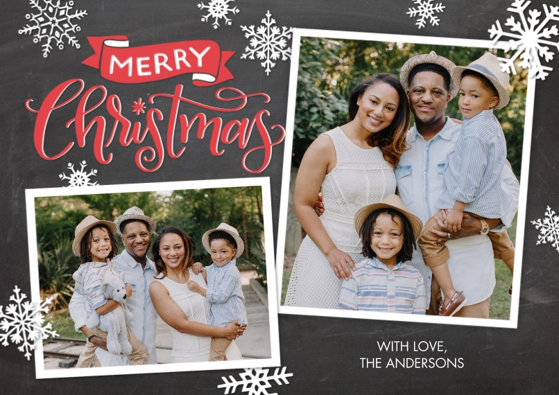 Christmas Photo Cards Flat Matte Photo Paper Cards with Envelopes, 5x7, Card & Stationery -Christmas Banner by Tumbalina