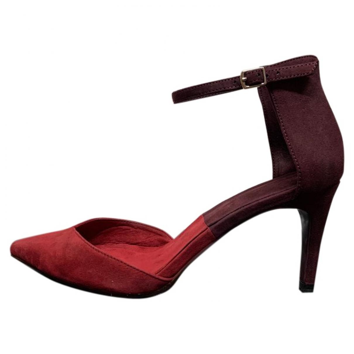 Zara \N Red Suede Heels for Women 39 EU