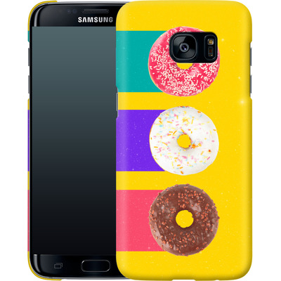 Samsung Galaxy S7 Edge Smartphone Huelle - Donuts von Danny Ivan