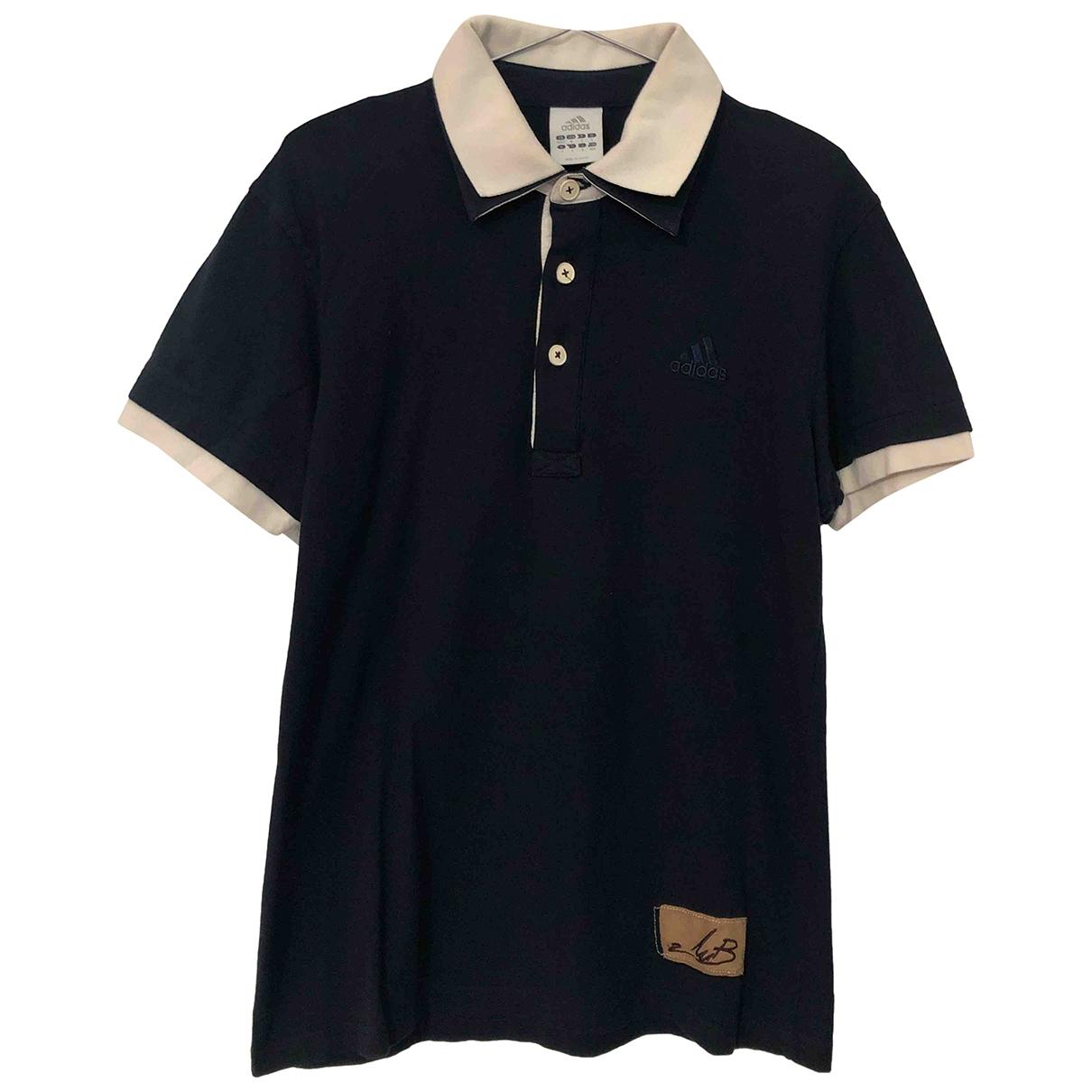 Adidas - Polos   pour homme en coton - bleu