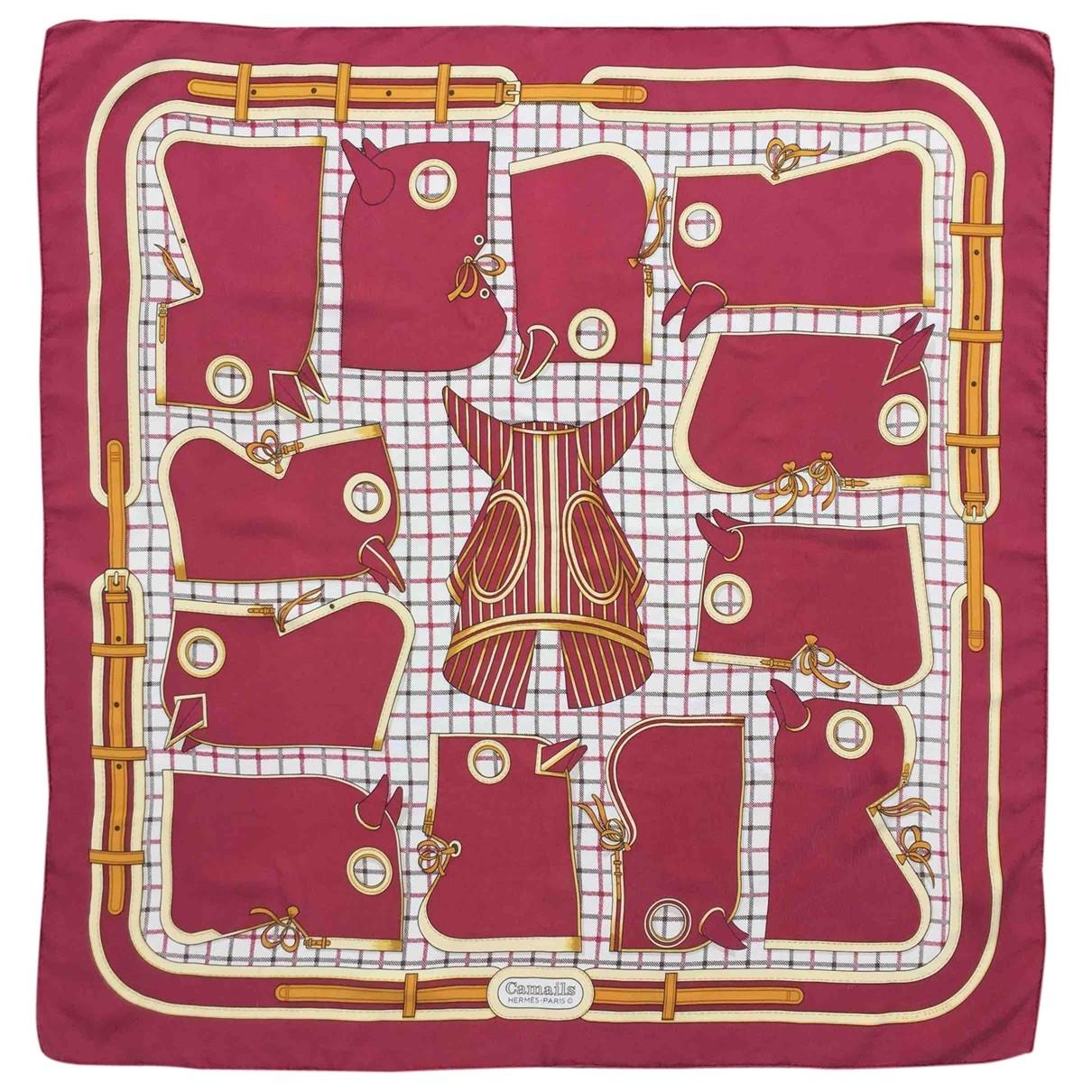 Hermès Carré 90 Red Silk Silk handkerchief for Women \N