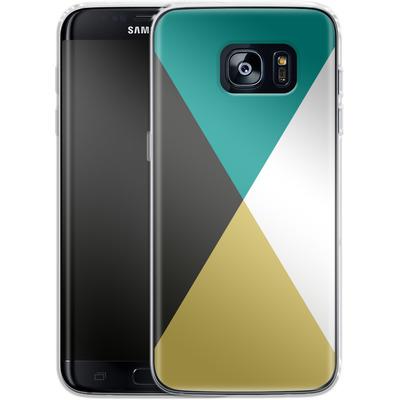 Samsung Galaxy S7 Edge Silikon Handyhuelle - Four Triangles von caseable Designs