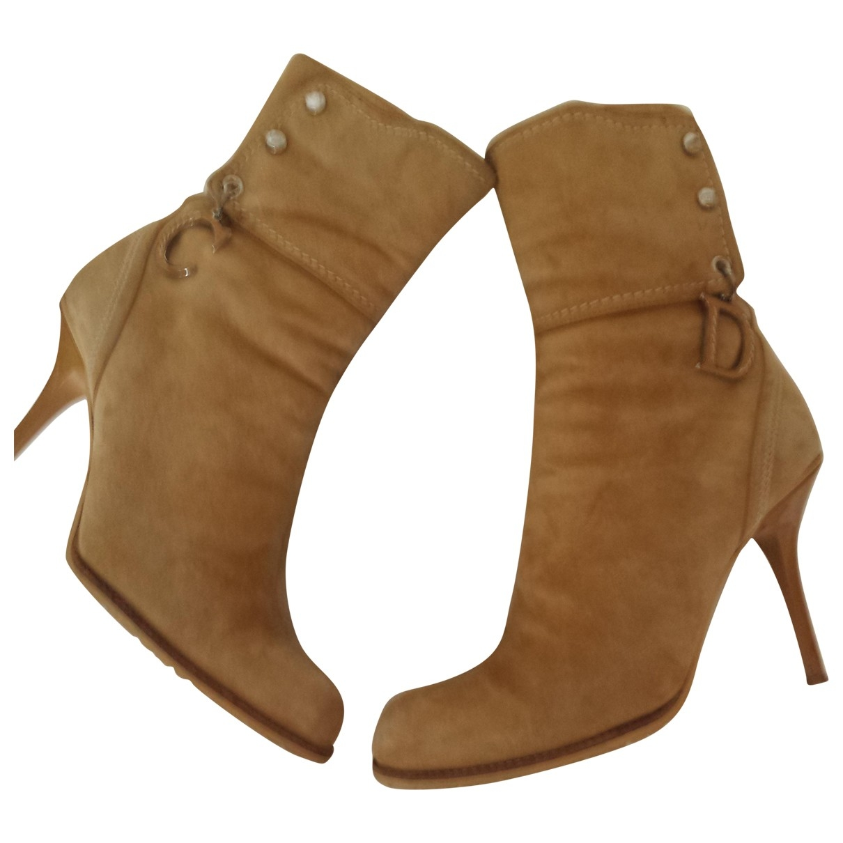Dior \N Khaki Suede Ankle boots for Women 36.5 EU