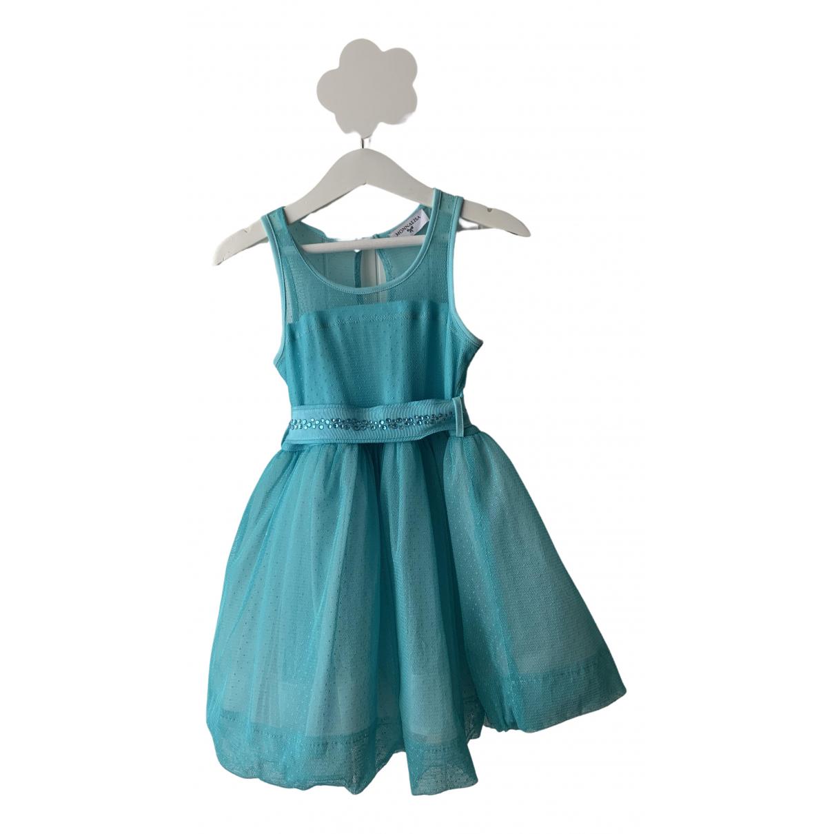 Monnalisa \N Kleid in  Blau Polyester