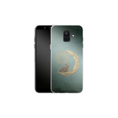Samsung Galaxy A6 Silikon Handyhuelle - Moon Travel von Eric Fan