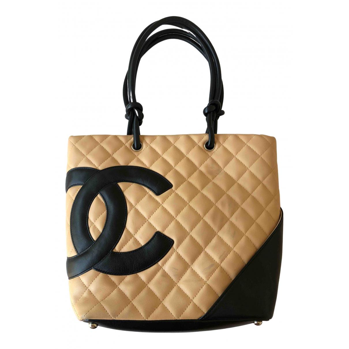 Chanel Cambon Handtasche in  Kamel Leder