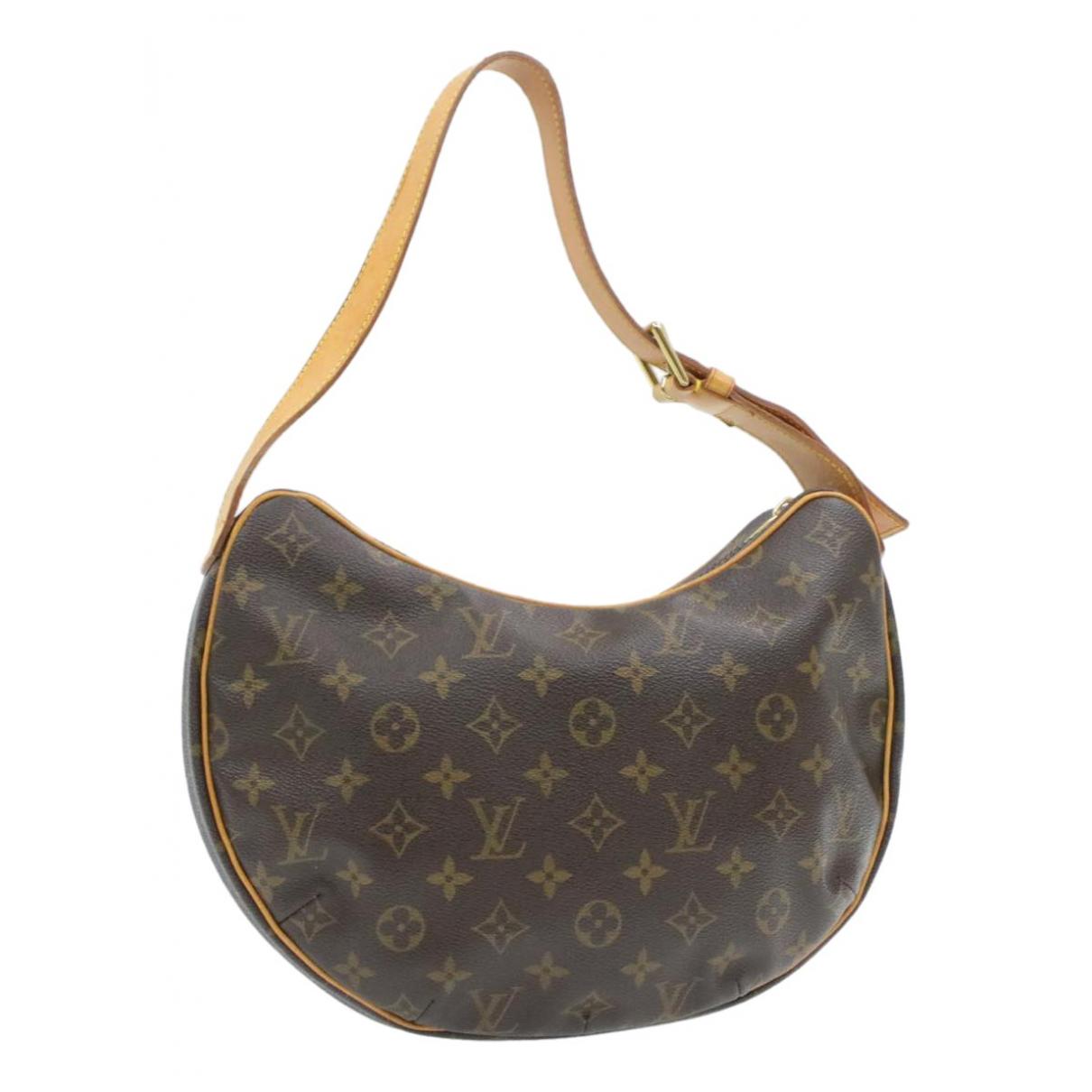 Louis Vuitton - Sac a main Croissant  pour femme en toile - marron