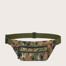 Men Camo Graphic Fanny Pack