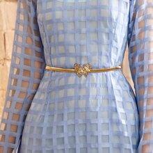 Rhinestone Decor Butterfly Decor Chain Belt