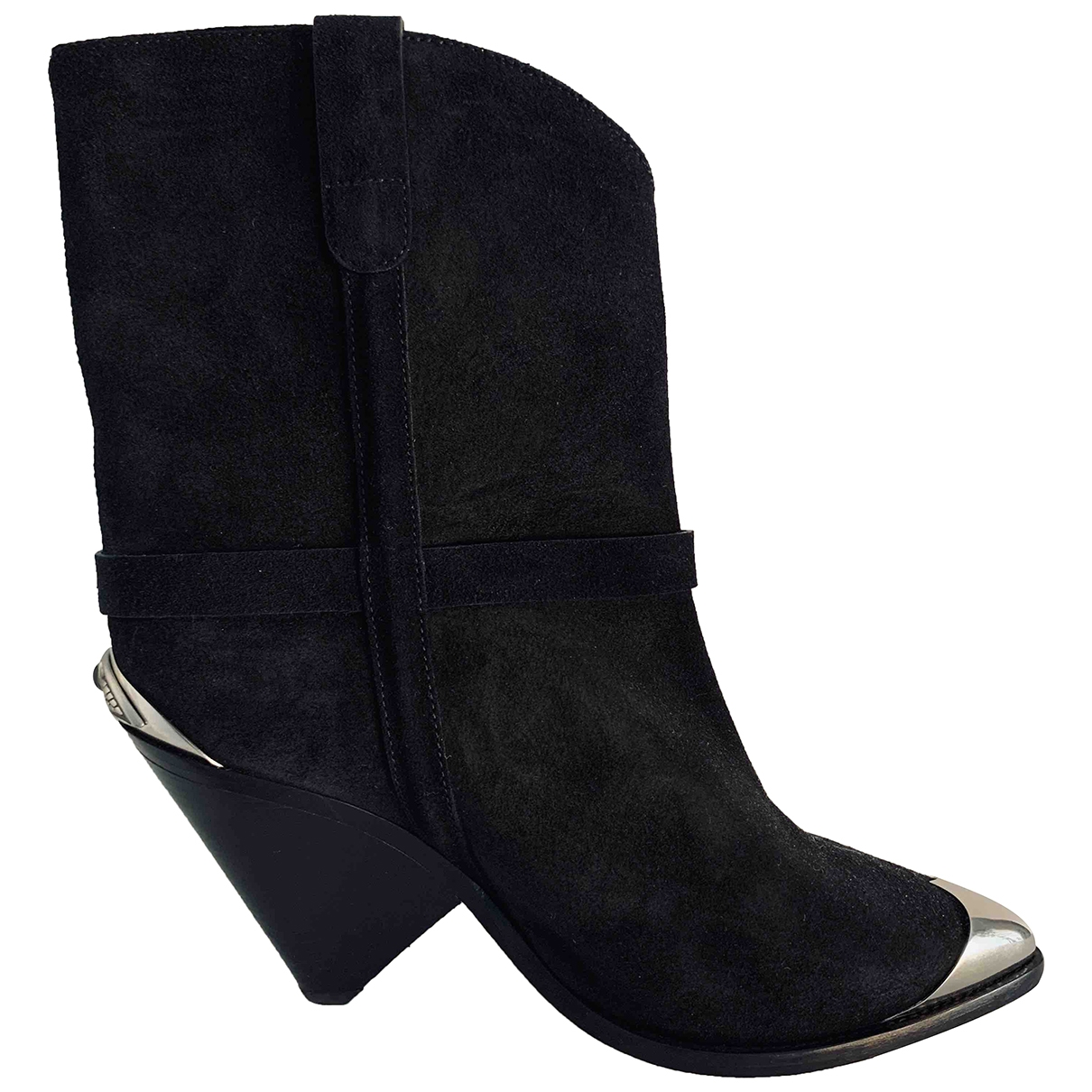 Isabel Marant Lamsy Black Leather Boots for Women 41 EU