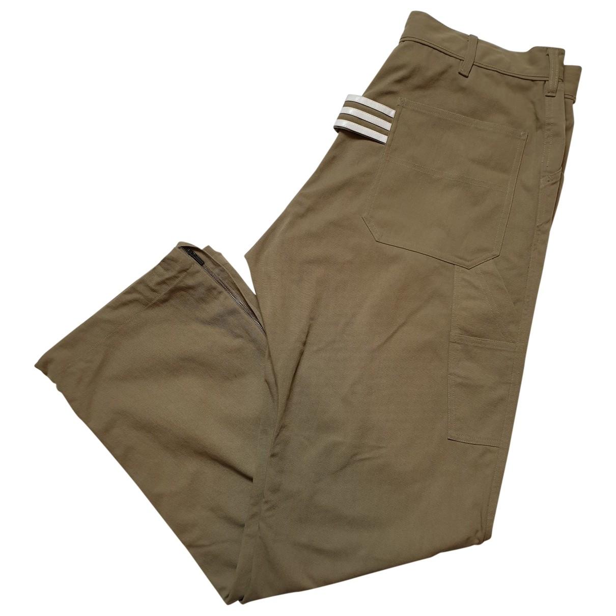 Y-3 By Yohji Yamamoto \N Beige Cotton Trousers for Men M International