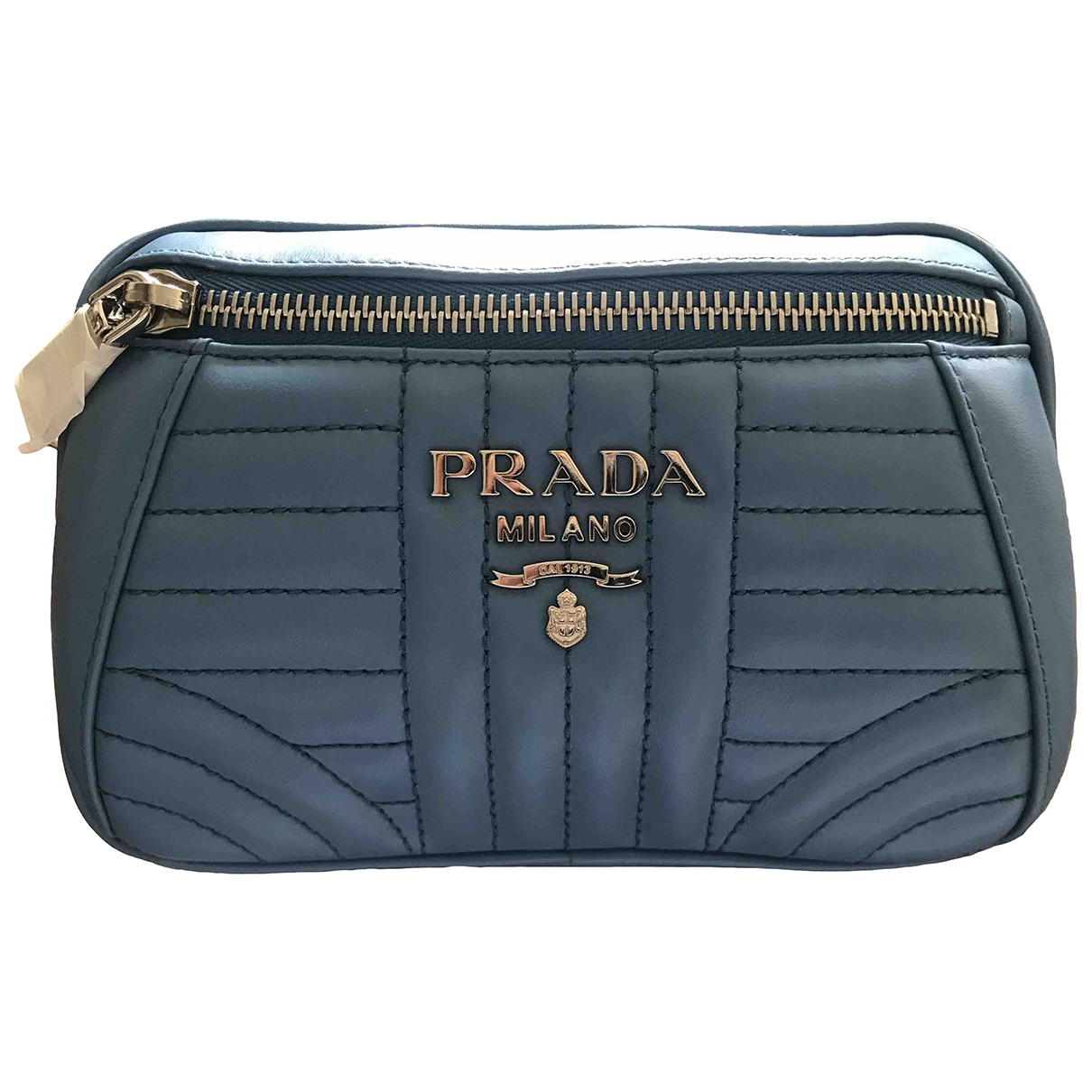Prada Diagramme Blue Leather Clutch bag for Women \N