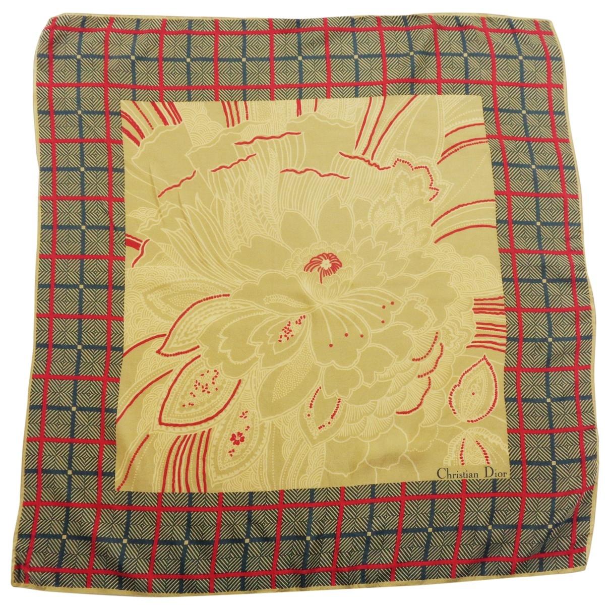 Dior \N Brown Silk Silk handkerchief for Women \N