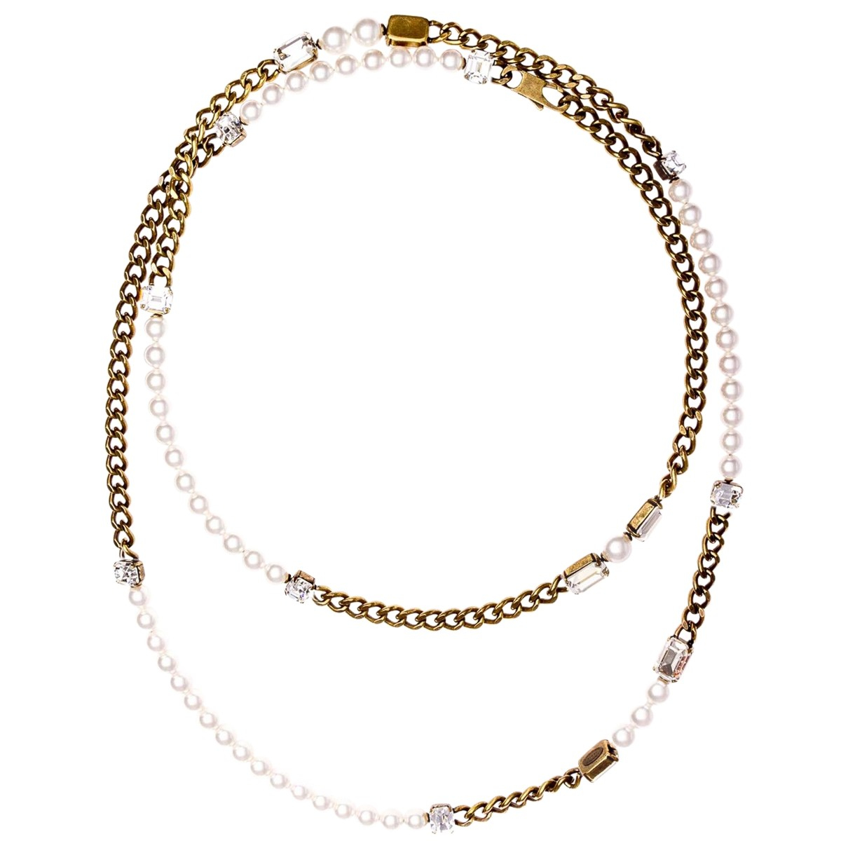 Lanvin - Sautoir   pour femme en metal - blanc