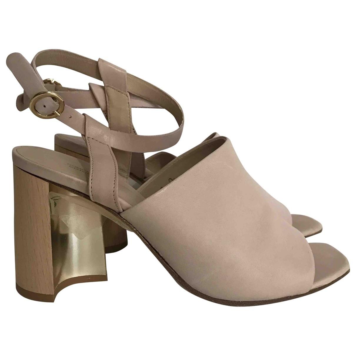 Comptoir Des Cotonniers \N Pink Leather Sandals for Women 38 EU
