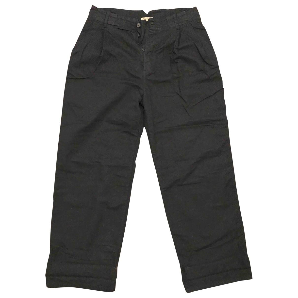 Bottega Veneta \N Black Cotton Trousers for Men 50 IT