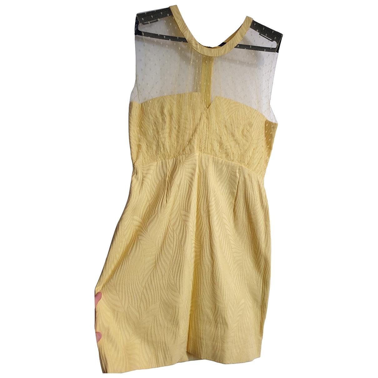 The Kooples - Robe Spring Summer 2020 pour femme en coton - jaune