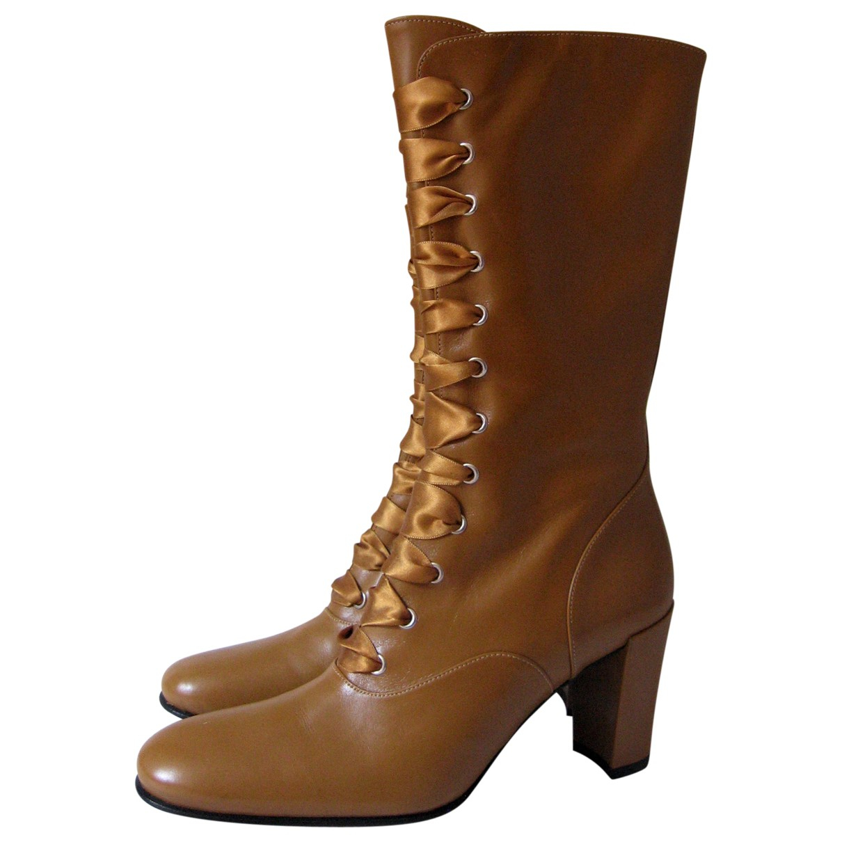 Free Lance \N Camel Leather Boots for Women 35 EU