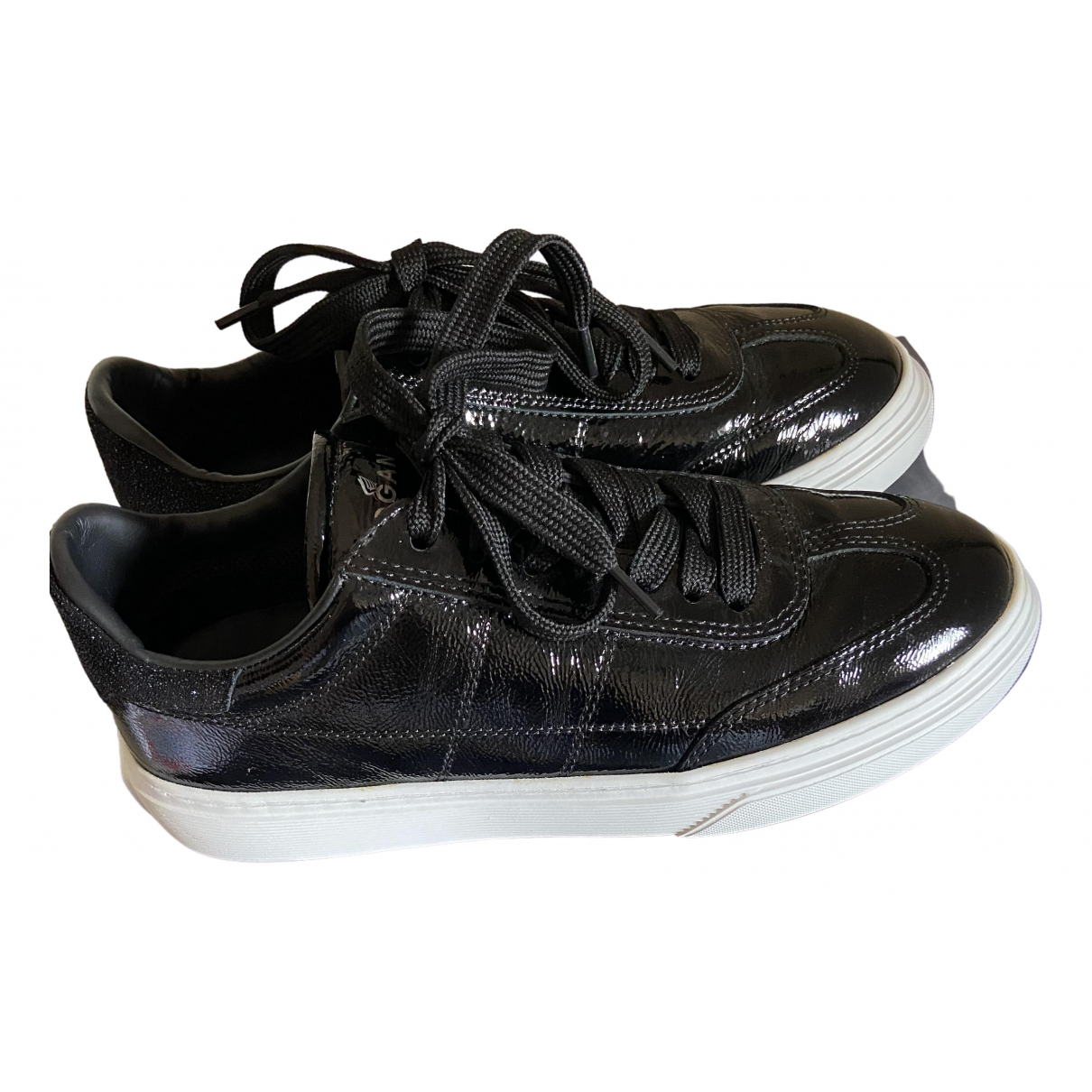 Hogan \N Sneakers in  Schwarz Lackleder