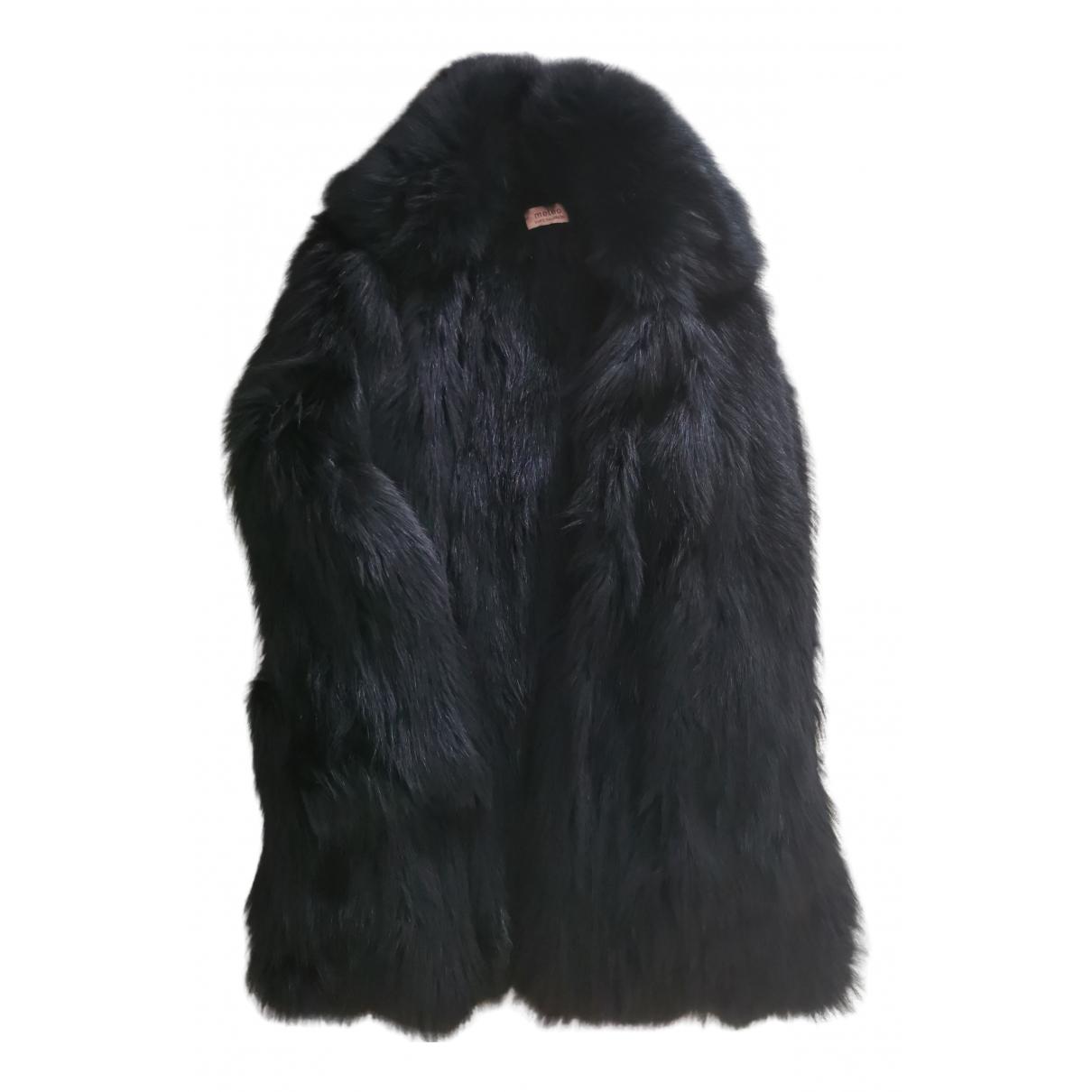 Yves Salomon N Black Fur coat for Women 36 FR