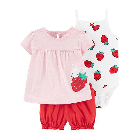Carter's Baby Girls Short Set, 3 Months , Pink