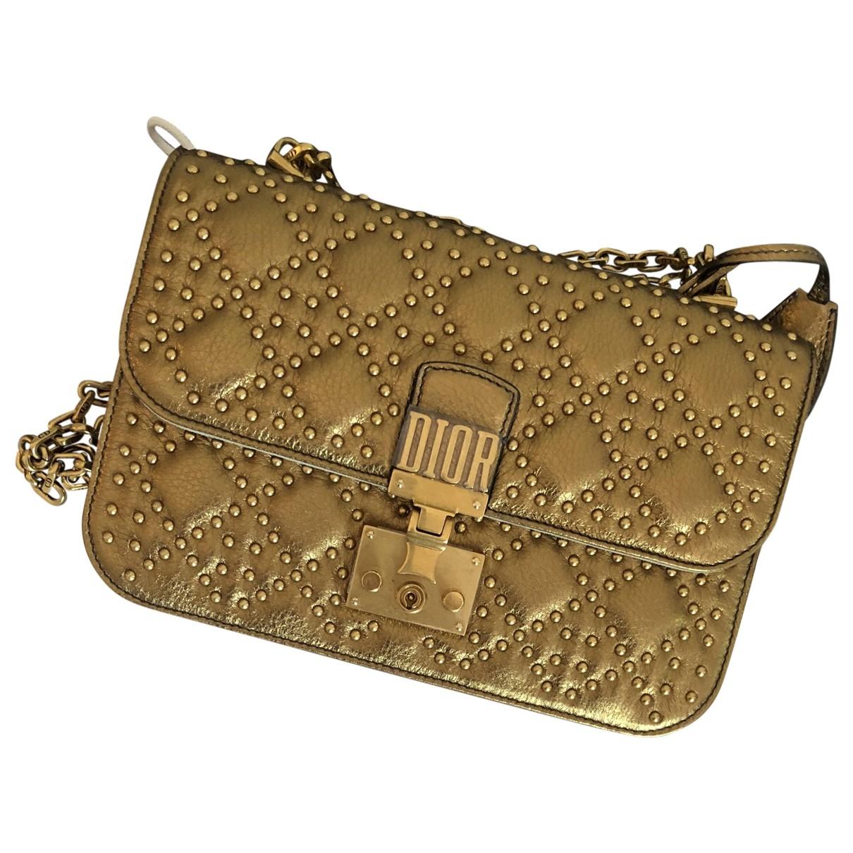 Dior DiorAddict Gold Leather handbag for Women \N