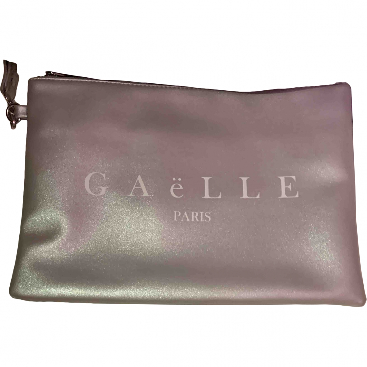 Gaelle Paris \N Silver Leather Clutch bag for Women \N