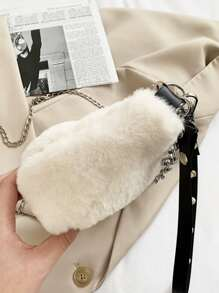 Minimalist Fluffy Shoulder Bag