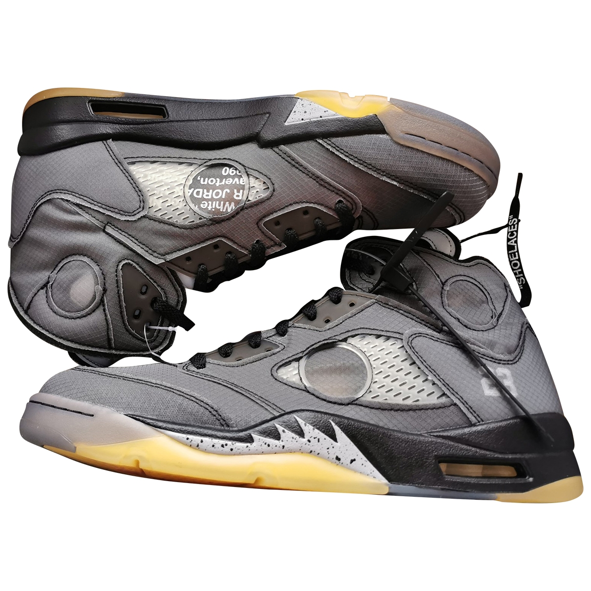 Nike X Off-white - Baskets Jordan 5 pour homme en cuir - anthracite