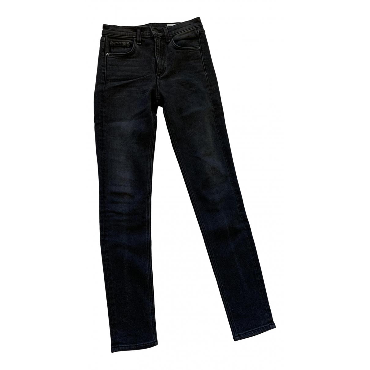 Rag & Bone - Jean   pour femme en denim - noir