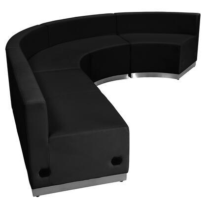 ZB-803-760-SET-BK-GG HERCULES Alon Series Black Leather Reception Configuration 4