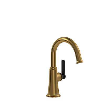 Momenti MMRDS00JBGBK-10 Single Hole Lavatory Faucet with J Lever Handle without Drain 1.0 GPM  in Brushed